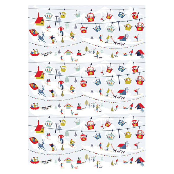 Cable Cars Gift Wrap Sheet