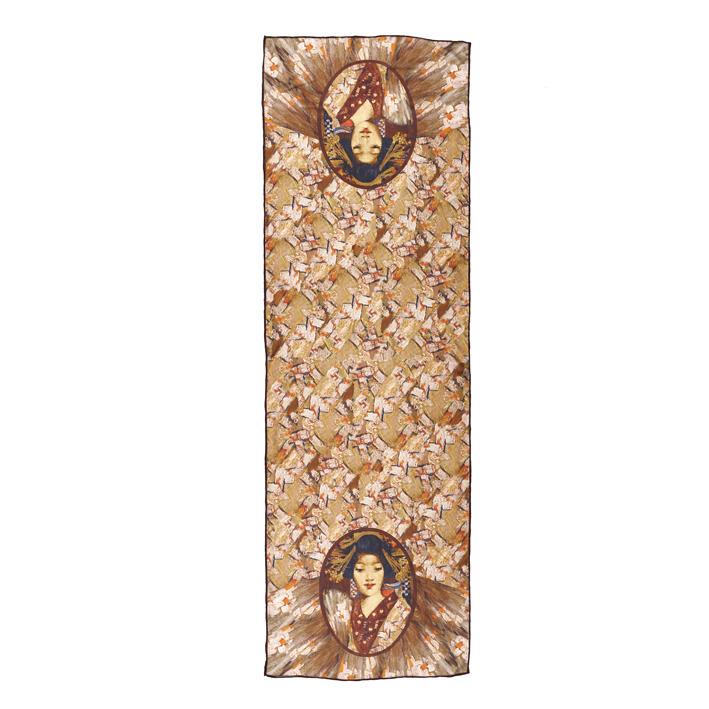 Geisha Girl by George Henry silk scarf