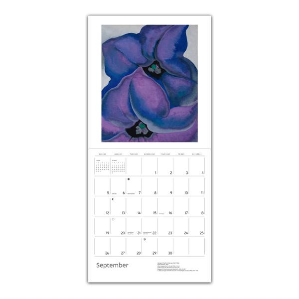 Georgia O'Keeffe floral 2021 wall calendar