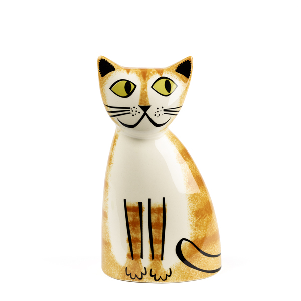Ginger cat ceramic money box