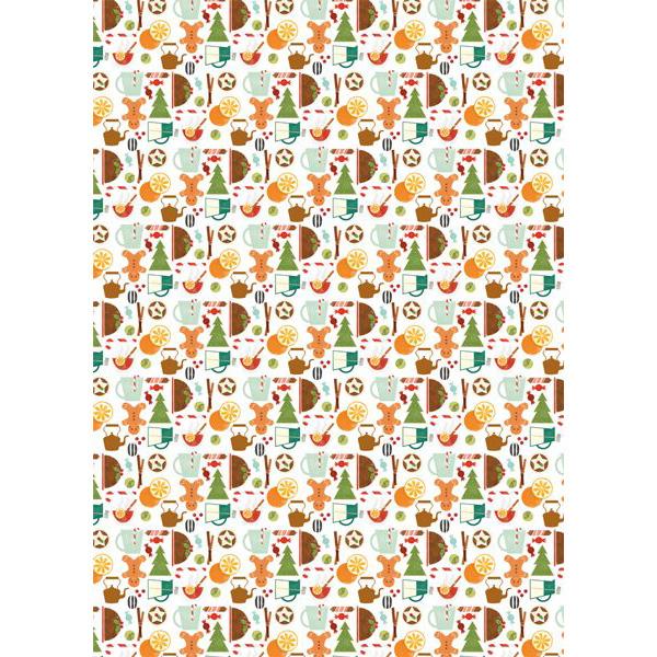 Gingerbread men gift wrap (single sheet)