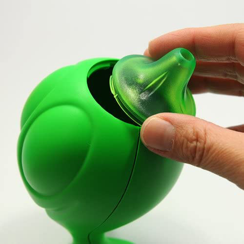 Gino Zucchino by Alessi green sugar pourer