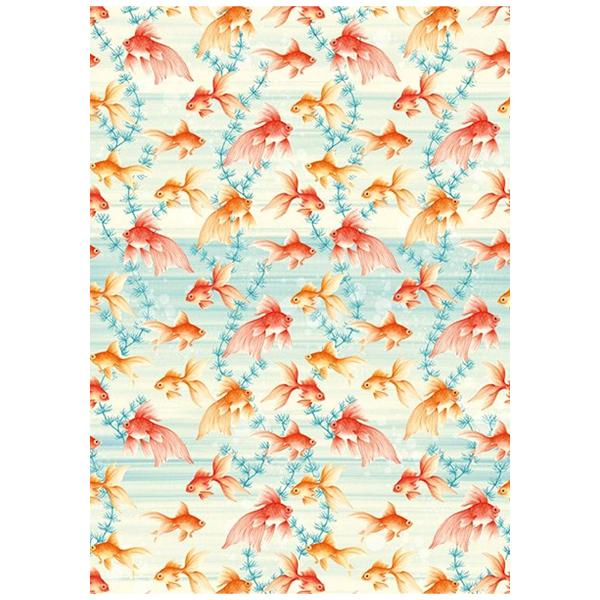Goldfish gift wrap sheet