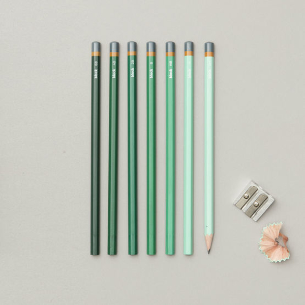 Gradient sketching pencils (Green cover - set of 7)