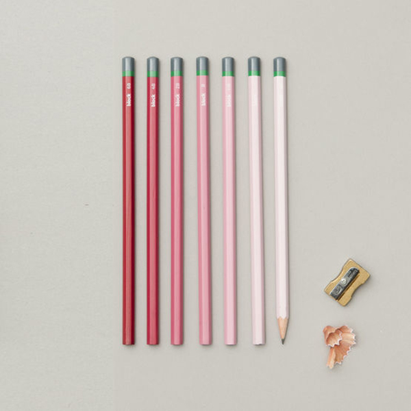 Gradient sketching pencils (Pink cover - set of 7)