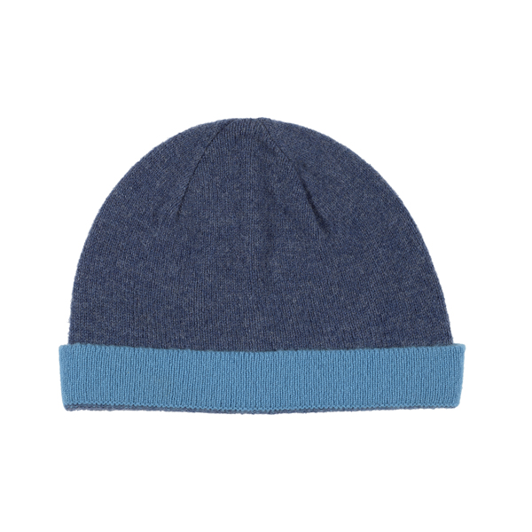 100% pure new wool Delauney denim and sky blue hat