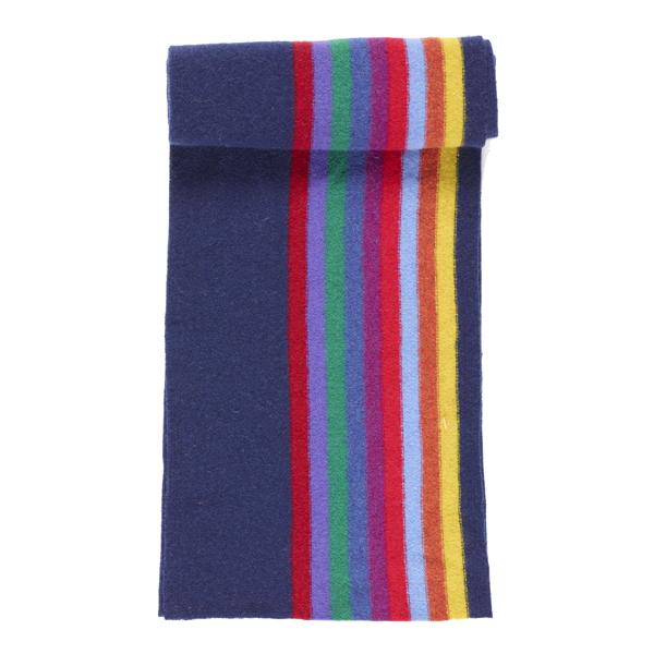 100% pure new wool Morris stripe indigo scarf