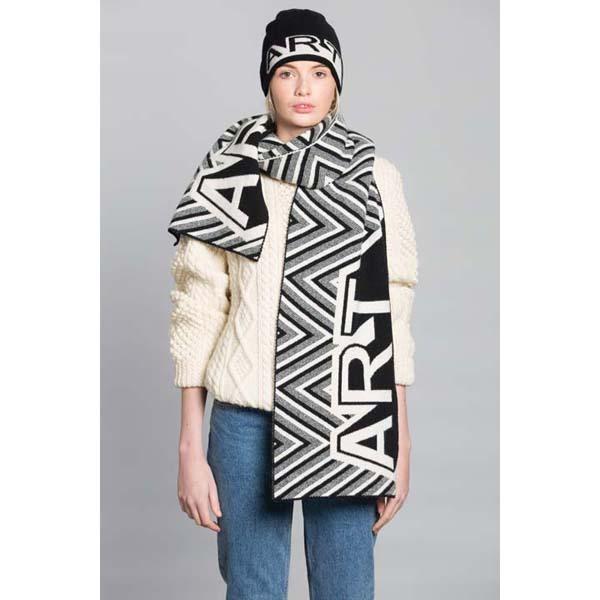 Black & White Art Unisex Lambswool Hat by Green Thomas