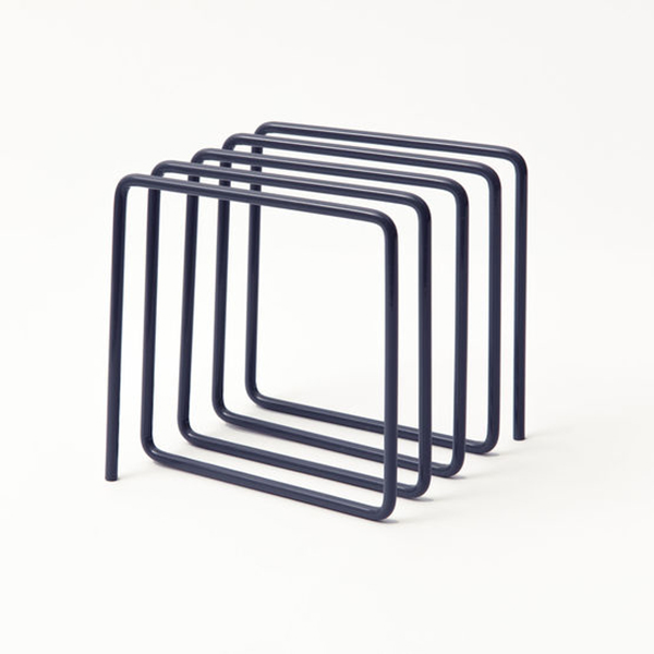 Grey loop magazine rack