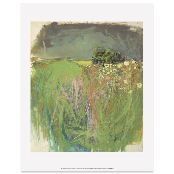 Hedgerow with Grasses and Flowers by Joan Eardley art print