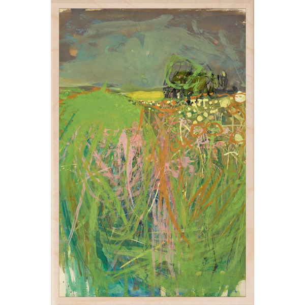 Hedgerow with grasses and flowers by Joan Eardley wooden postcard