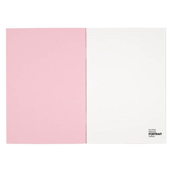 Boson Theory by Peter Higgs A5 graph paper pink notebook