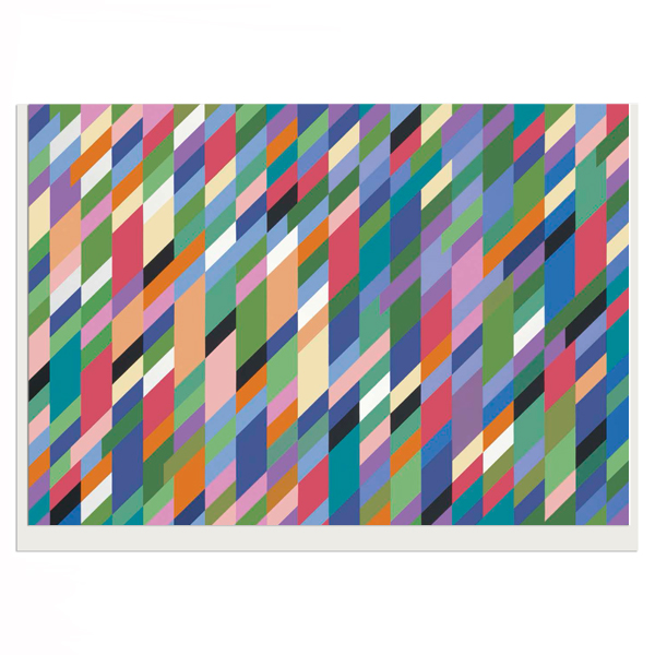 High Sky by Bridget Riley greeting card