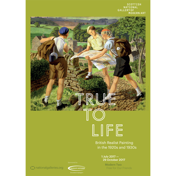 Hiking by James Walker Tucker True to Life exhibition poster