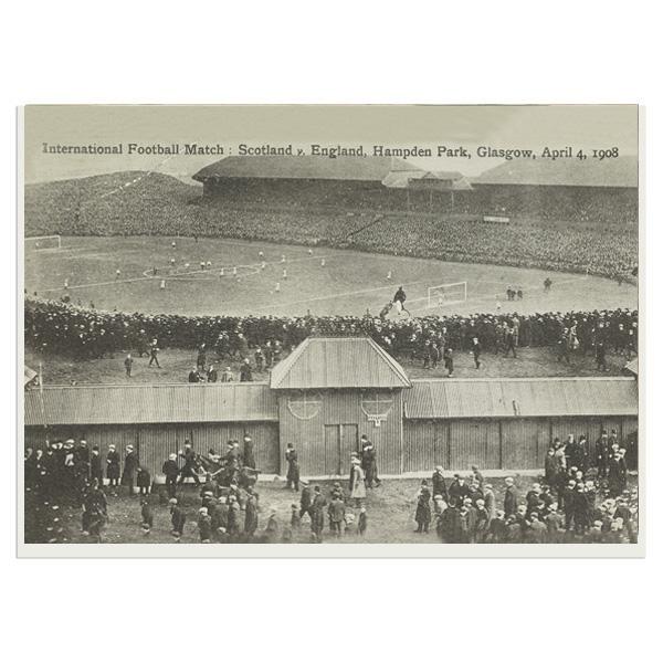 International Football Match: Scotland v. England, Hampden Park, Glasgow, April 4, 1908 greeting card