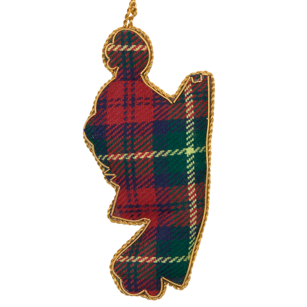 James MacDonald hunting tartan fabric Christmas decoration