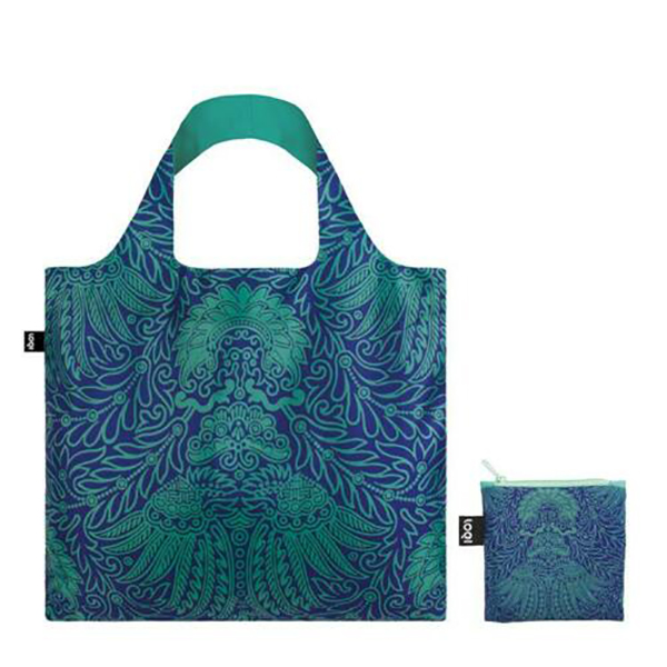Japanese décor pattern reusable water-resistant carrier bag