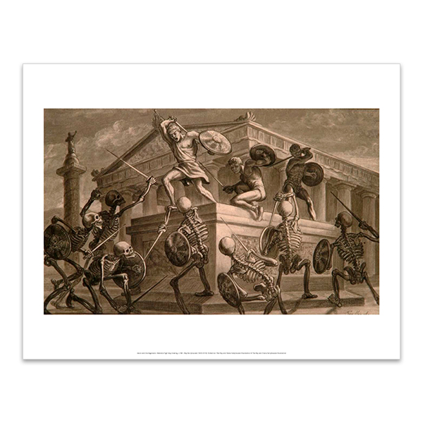 Jason and the Argonauts: Skeleton fight key drawing art print