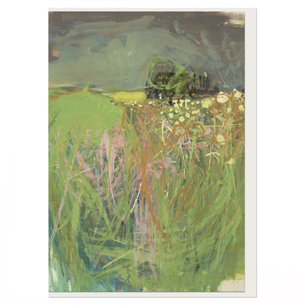 Hedgerow with Grasses and Flowers Joan Eardley Greeting Card