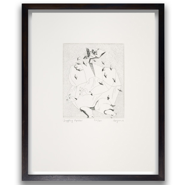 Juggling Pyrites by John Byrne limited edition etching print
