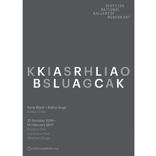 Karla Black and Kishio Suga Exhibition Grey exhibition poster