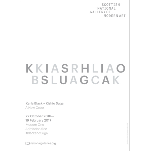 Karla Black and Kishio Suga Exhibition White Poster