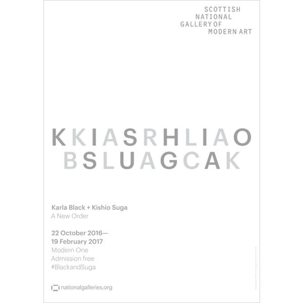 Karla Black and Kishio Suga Exhibition White exhibition poster
