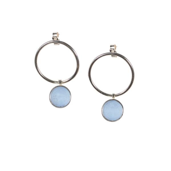 Lavender Helen acrylic and silver drop earrings