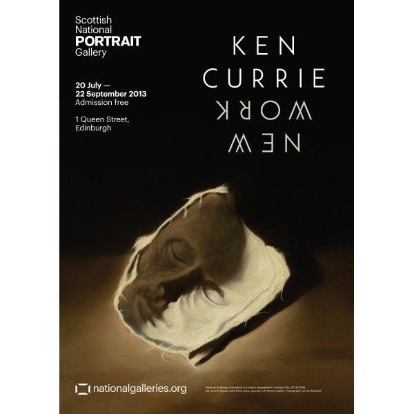 Ken Currie New Work exhibition poster