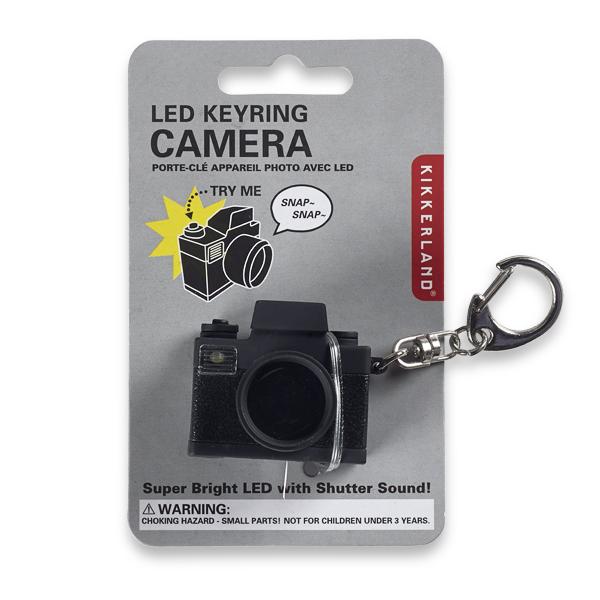 Kikkerland camera LED keyring