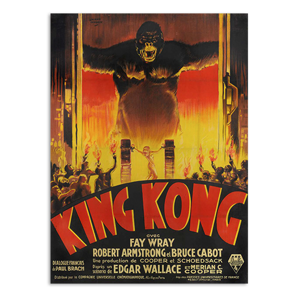 King Kong advertising poster by Cinema Greats A6 postcard