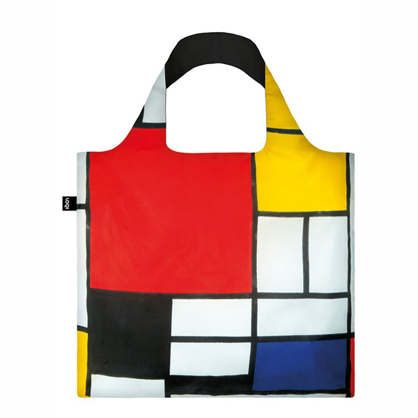 Composition by Piet Mondrian reusable water-resistant carrier bag