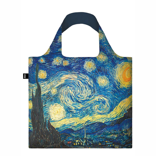 The Starry Night by Vincent van Gogh reusable water-resistant carrier bag