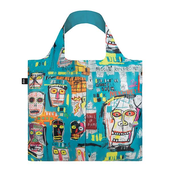 Skull by Jean-Michel Basquiat reusable water-resistant carrier bag