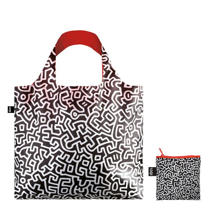 Untitled by Keith Haring reusable water-resistant carrier bag