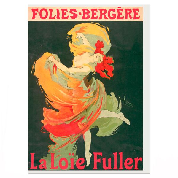 La Loie Fuller Jules Chéret Greeting Card