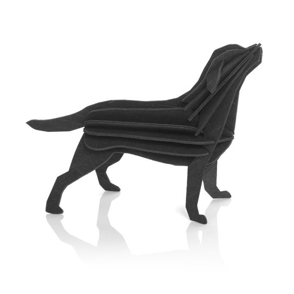 Black Labrador flat pack construction kit