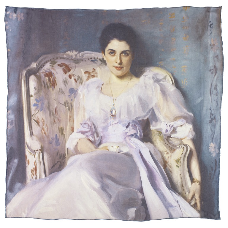 Lady Agnew of Lochnaw by John Singer Sargent square silk scarf