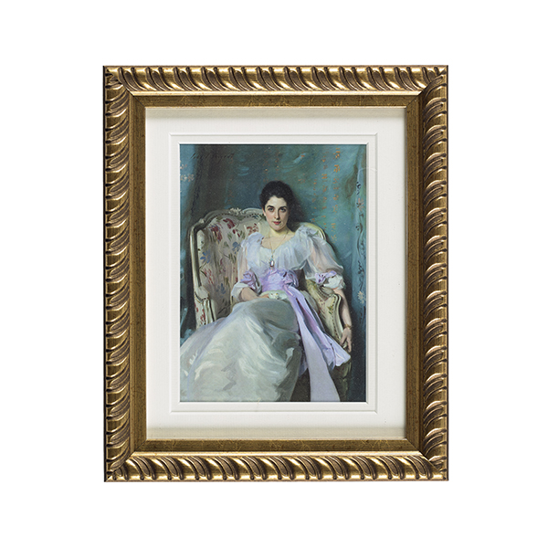 Lady Agnew ready to hang gold ornate framed print