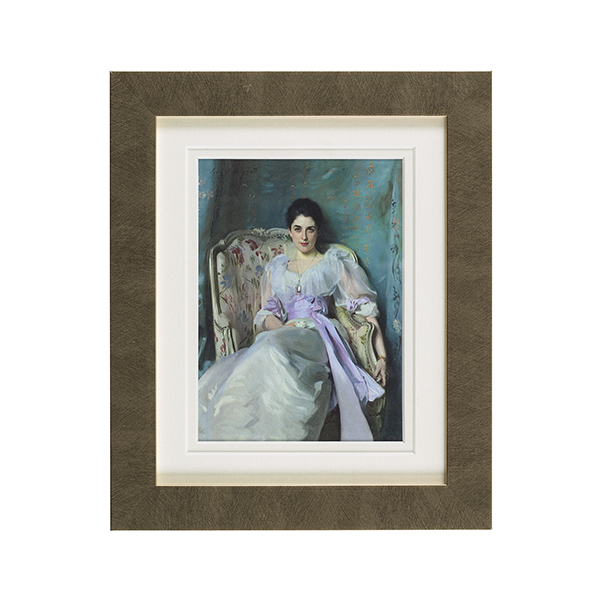 Lady Agnew ready to hang gold plain framed print