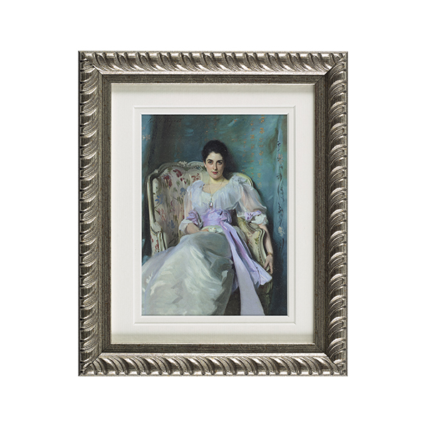 Lady Agnew ready to hang silver ornate framed print