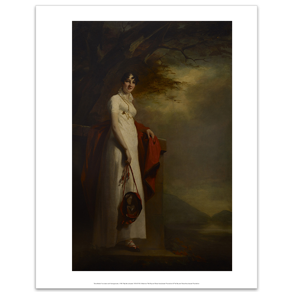 Lady Montgomery by Sir Henry Raeburn art print (35.5 x 28 cm)
