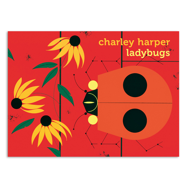 Ladybugs by Charley Harper boxed notecard box (20 cards)