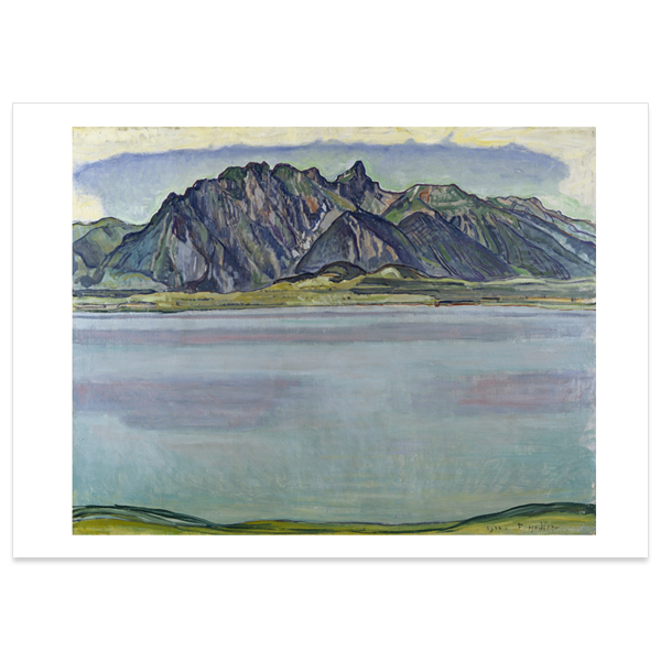 Lake Thun and the Stockhorn Mountains by Ferdinand Hodler poster print