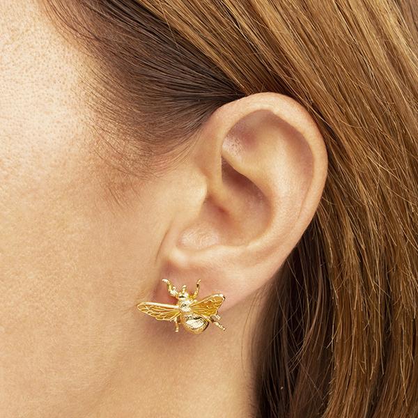 Queen bee large stud earrings