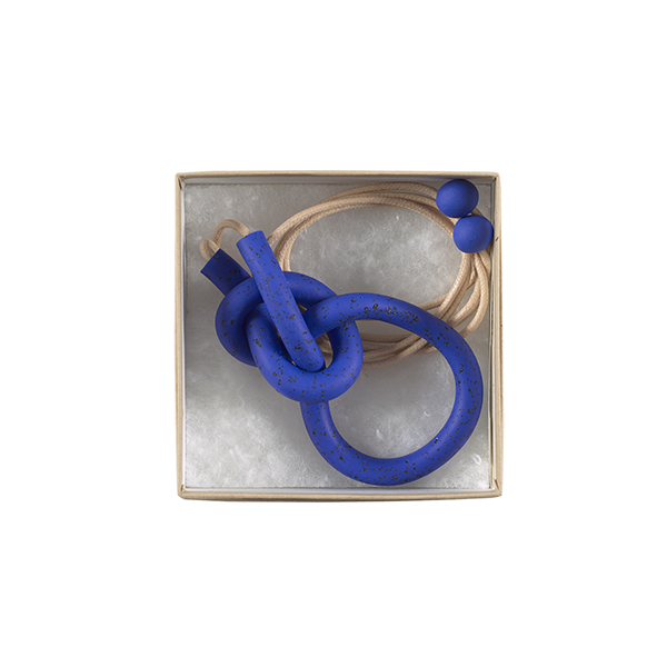 Large knot blue coloured handmade necklace