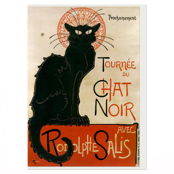 Le Chat Noir Theophile Steinlen Greeting Card