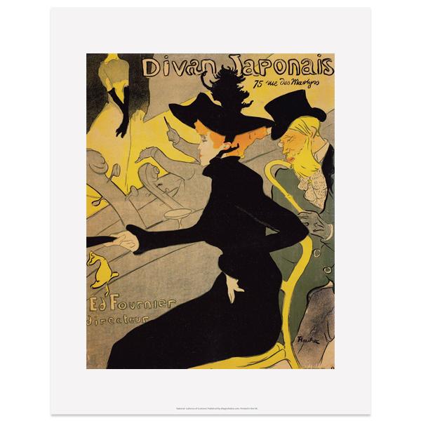 Le Divan Japonais advertising poster by Toulouse-Lautrec art print
