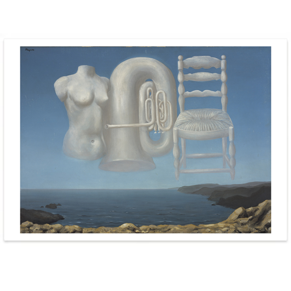 Le Temps Menaçant [Threatening Weather] by Rene Magritte large poster print