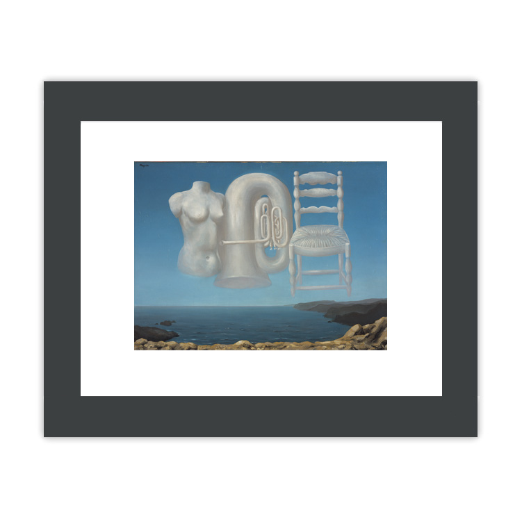 Le Temps Menaçant [Threatening Weather] by Rene Magritte ready to hang small framed print